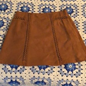 Skirt size6 mini skirt brown/tan from Cato